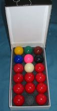 "1 3/4"" (44mm) Snooker Billiard Pool table balls 10 red set white cue ball"